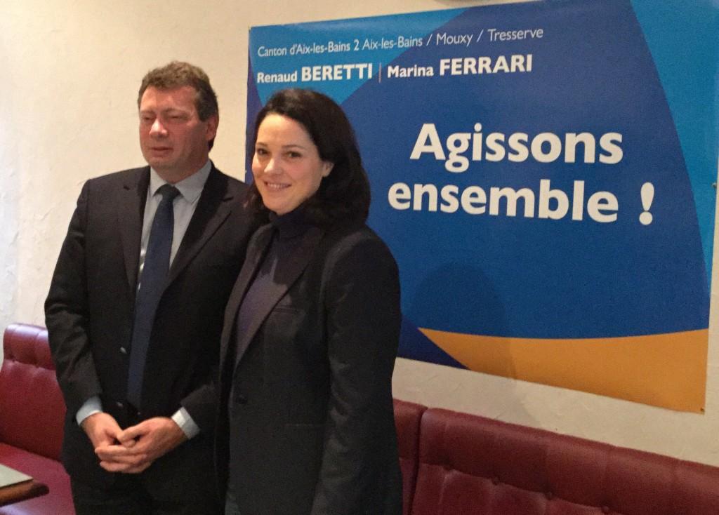 Marina Ferrari et Renaud Beretti